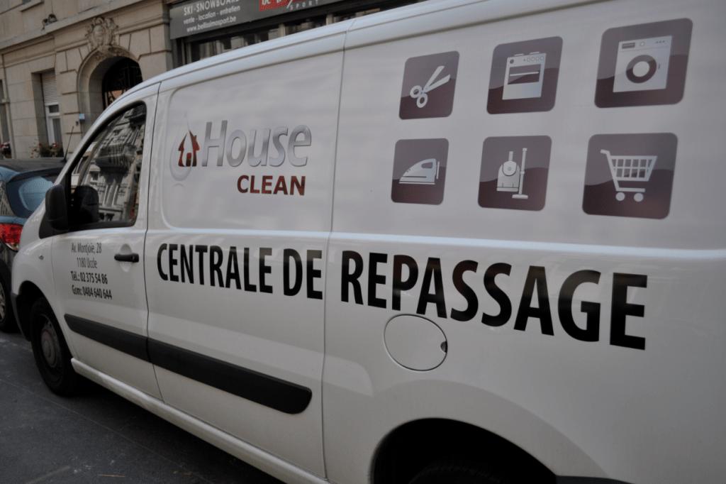 House Clean Camionnette enlèvement dépôt centrale de repassage